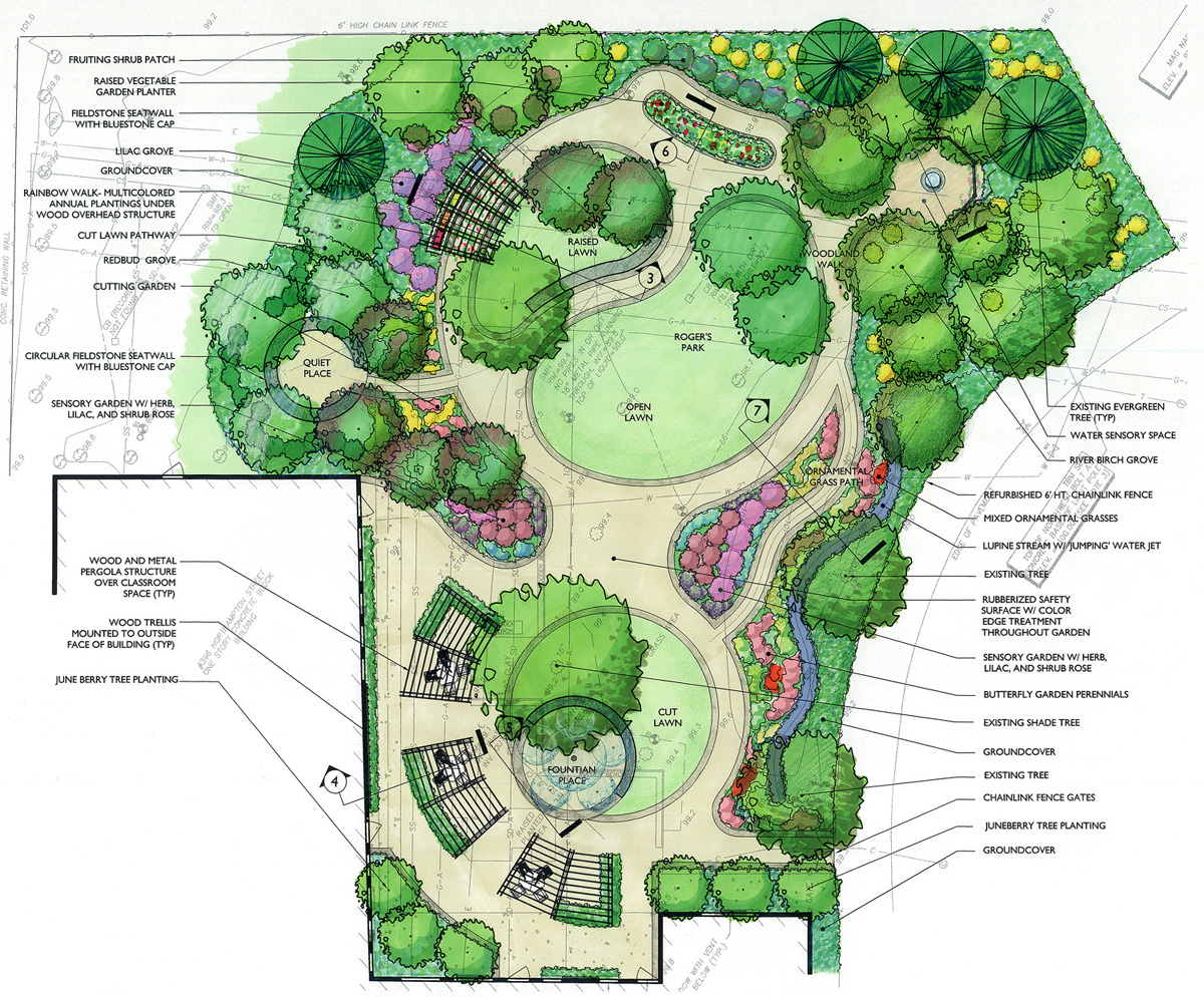 W e carter school sensory garden for How to design garden layout